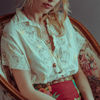 frances blouse gold lilly