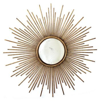 Sunburst Wall Mirror in Gold