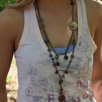 Vintaj Necklace // Chic // Boho // Hippie // handmade // Nature Necklace // Spring Inspired Jewelry // Rustic Jewelry