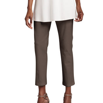 Washable Stretch-Crepe Ankle Pants, Women's - Eileen Fisher - Deep rye