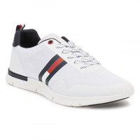 Tommy Hilfiger Mens White Tobias 1D Trainers