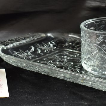 Princess House 505 Crystal Mug & Plate Set - Fantasia