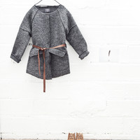 Tocoto Vintage Girl Cloth Girl Coat in Grey - W6515