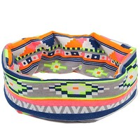 Women's Neon Headband in Orange/Yellow/Blue by Daytrip.