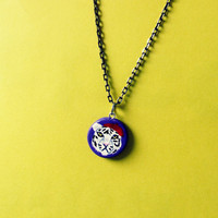 Purple Hipster Tiger Necklace