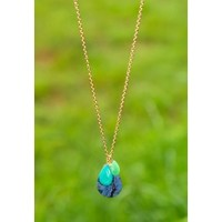 Skipping Steps Necklace-Navy