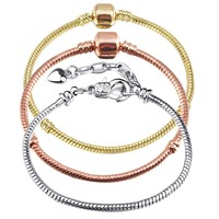 BAOPON 5 Pcs/Lot Multi-style Snake Chain Charm Bracelets & Bangles For Women With Pandora Bracelet Pulseira Feminina