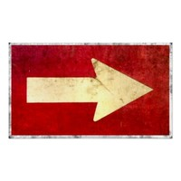 Vintage Arrow Signage Wall Art Poster