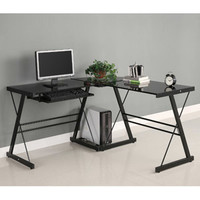Walmart: Glass and Metal Corner Computer Desk, Multiple Colors