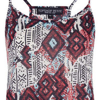 Petite Aztec Crop Cami - New In This Week - New In - Topshop