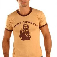 SNL Saturday Night Live More Cowbell Cream/Tan T-shirt|TV Store Online