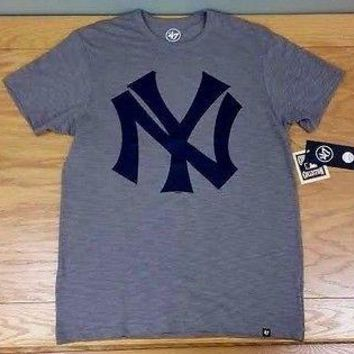 "NEW YORK YANKEES '47 Brand ""Crosstown Scrum Tee"" Retro MLB T-Shirt Tee Shirt"
