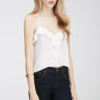 Ruffled Crossback Cami Top