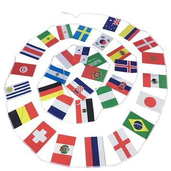 2018 World Cup Banner String Flag Wedding Decoration Baby Shower Birthday Party Decorations Kids Soccer Game Celebration