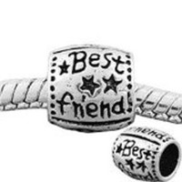 European Charm Metal Bead Best Friend