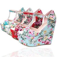 Mieda Women Flower Sandals Summer Style Wedge