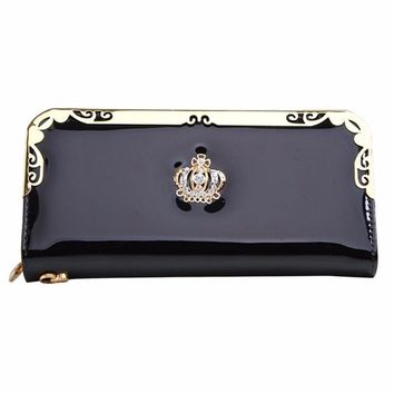 Wallet Clutch Long Purse large women wallet PU Leather Wallet credit card wallet women