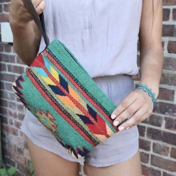Tribal Sage Arrow Clutch Purse Bag