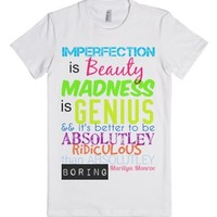 Better to be Ridiculous than boring marilyn monroe quote-T-Shirt