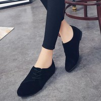 Women Lace Up Flat Shoes Head Shoes Low To Help Flat Bottom Casual Shoes