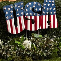Patriotic USA Flag Stake Americana July 4th Lawn Garden Yard Home Decor