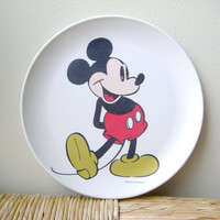 Vintage Mickey Mouse Walt Disney Plate by VintageWoods on Etsy