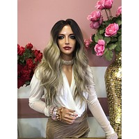 """Ash Blond Ombre Balayage' Lace Front Wig 14"""" 0219 9"""