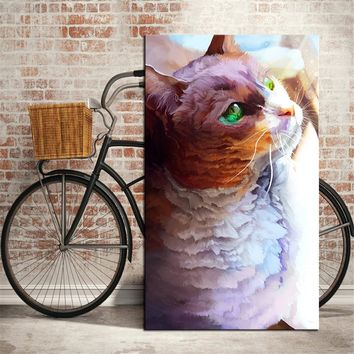 DPARTISAN Pet Portrait Watercolor print  Wall Art Canvas Painting Wall Picture For office Room Decoration No Frame painting