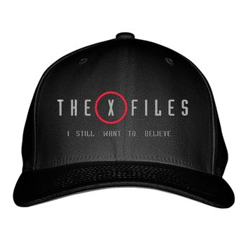 The X Files I Still Want To Believe  Embroidered Baseball Cap