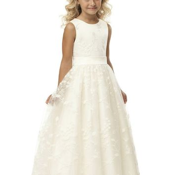 Vestidos De Comunion 2017 fashion lace first communion dress vintage a-line  long noble ivory lace flower girl dresses