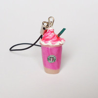 Starbucks STRAWBERRY FRAPPE - phone charm