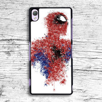 White Spiderman Painting Sony Xperia Case, iPhone 4s 5s 5c 6s Plus Cases, iPod Touch 4 5 6 case, samsung case, HTC case, LG case, Nexus case, iPad cases