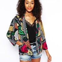 River Island Quilted Africana Jacket at asos.com