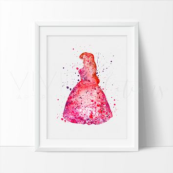 Ariel, Little Mermaid 4 Watercolor Art Print