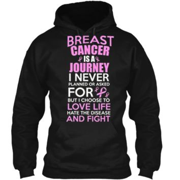 Support Breast Cancer Awareness T-Shirt Pullover Hoodie 8 oz