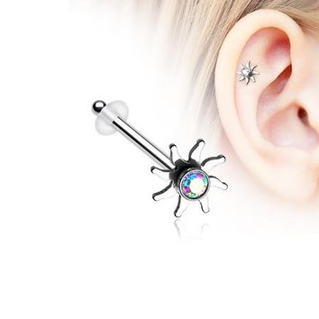 Blazing Sun Sparkle Piercing Stud with O-Rings