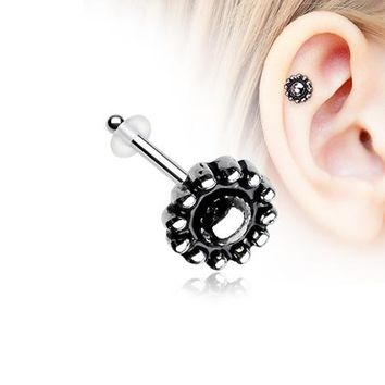 Aira Ornate Filigree Icon Piercing Stud with O-Rings