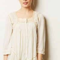 Winnie Button Blouse by Anthropologie Sky