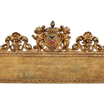 Italian Carved-Wood Headboard