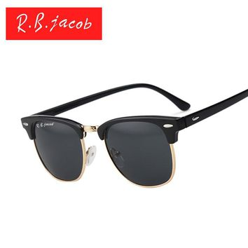 women Men sunglasses Brand designer Classic UV400 Mirror Lady Sun Glasses Male Female L rayed Small Size Hot Half Frame Pink