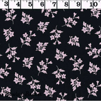 2.00 per yard - Pink Flowers Cotton Fabric- Cotton Fabric - by the yard - Your Sewing Basket