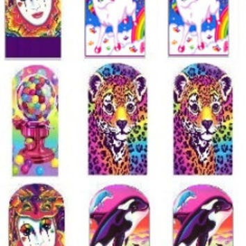 Lisa Frank Nail Decals