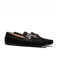 OPP Men's Leather Loafers Fashion Style With Buckle Slip-On Shoes Good for Casual Party And Wedding Black