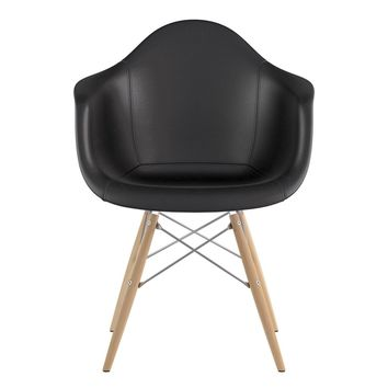 Mid Century Dowel Arm Chair Milano Black