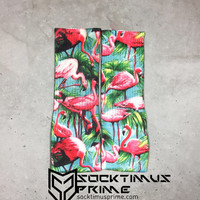 Flamingo Bird - Custom Sublimated Socks - Socktimus Prime