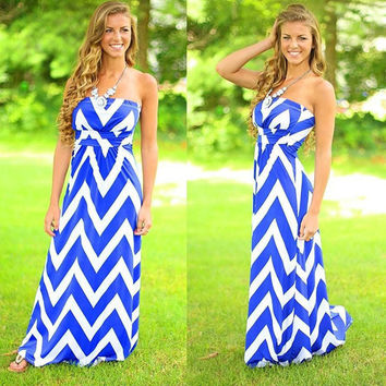 Sun Dress 2016 Vestidos Women Summer Dress Beach Casual Fit And Flare Striped Strapless Floor Length Sexy Maxi Dress Plus Size