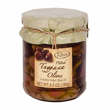 Ranise Taggiasca Olives in Extra Virgin Olive Oil 6.3 oz. (180g)