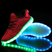 Light Up Red Cute Womens Sports Running Ourdoor Shoes