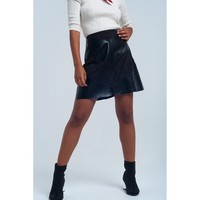 Black Mini Leather Skirt