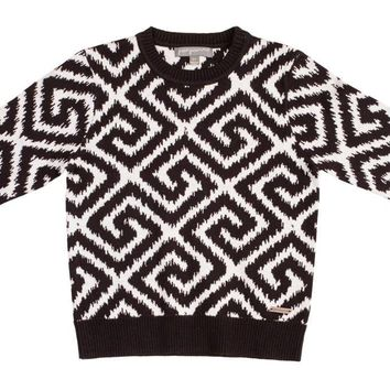 Pompomme Boys' Jacquard Knit Sweater